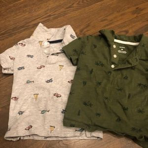 Good condition button up short sleeve T-shirts